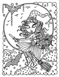 Childrens Halloween Books Witches by Cute Witch Halloween Coloring Page Fun Coloring Instant