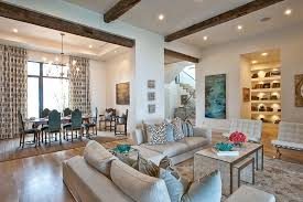 light teal living with brown sectional sofa living room