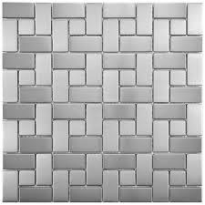 elitetile random sized metal porcelain mosaic tile in stainless