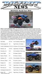 News – 2014 – BIGFOOT World Tour 2014 « Bigfoot 4×4, Inc. – Monster ... White Hd X Monster Truck Salhwebpageadvtisercom Tradesman Quad Archives Main Street Mamain Mama Americas Jam Has Gone Intertional Tbocom Alaide 2014 Dragon 02 By Lizardman22 On Deviantart Daily Turismo 10k Good Grief 1980 Oldsmobile Cutlass News Rivalry Renewed Bigfoot 44 Inc Nationals Wixycom 03 Photos Truck Tour Ignites Matthew Knight Arena Uwire Everybodys Scalin For The Weekend Trigger King Rc Mud Driver Stock Redcat Racing Volcano18 118 Scale Electric Coming