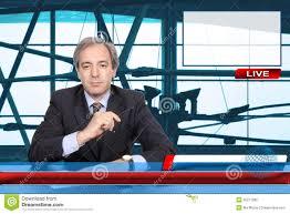TV News Reporter Stock Image Of Industry Breaking