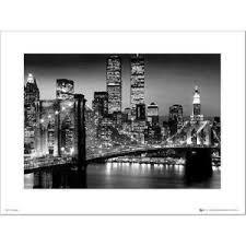 cadre new york noir et blanc achat vente cadre new york noir