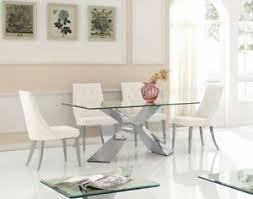 details zu shaby chester designer esstischstuhl esszimmer stuhl edelstahl samt perl weiß