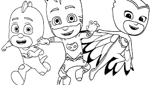 Pj Masks Coloring Pages Mask Pictures To Color And Print