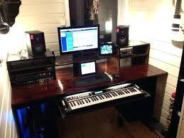 Studio Setup Ideas Lovable Infamous Musician Home Recording To Regarding Desk