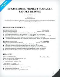 Construction Project Manager Resume Template Management Jobs Templates