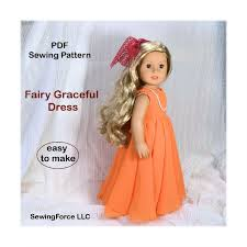18 Inch Doll Clothes Pattern Fairy Gracefull Dress Fits 18 Inch