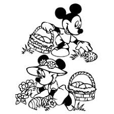 Mickey And Minnie Collecting Easter Eggs
