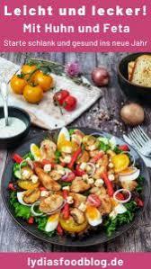 frischer salat mit hähnchen und joghurtdressing