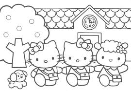 Free Printable Hello Kitty Coloring Pages For Kids Throughout Baby