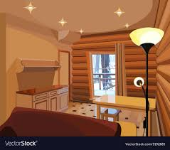 100 Design House Inside Cartoon Interior In A Wooden House
