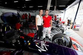 Malaysian celebrity maya karin meets PutrajayaePrix race winner