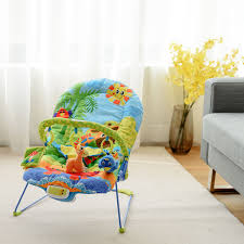 Costway Adjustable Baby Bouncer Swing Rocker Reclining Chair W/ Toys  Soothing Music Box