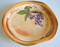 Clay Art Rustic Vines Drip Plate Bowl