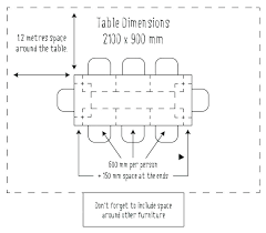 Standard Dining Table Dimension Dining Table Dimensions In Mm