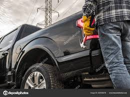 Contractor Tools His Truck Closeup Photo Construction Theme — Stock ...