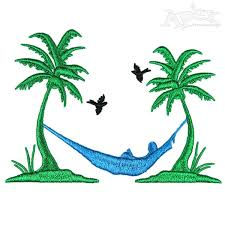 with Palm Tree Embroidery Designs
