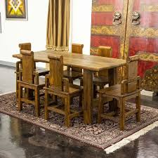 Chinese Dining Set Is Handcrafted From Elm With Artisanal ... Amazoncom Cjh Nordic Chinese Ding Chair Backrest 66in Rosewood Dragon Motif Table With 8 Chairs China For Room Arms And Leather Serene And Practical 40 Asian Style Rooms Whosale Pool Fniture Sun Lounger Outdoor Chinese Ding Table Lazy Susan Macau Lifestyle Modernistic Hotel Luxury Wedding Photos Rosewood Set Firstframe Pure Solid Wood Bone Fork