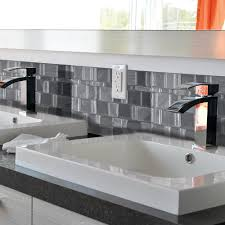 Smart Tiles Peel And Stick by Interior Smart Tiles Tango Onyx In X In Peel And Stick Mosaic