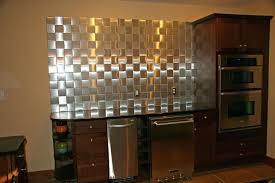 self stick metal backsplash tiles creative peel and stick wall