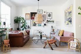 offenes wohnzimmer im vintagestil mit bild kaufen