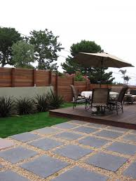 Diy Pea Gravel Patio Ideas by Create An Inexpensive Patio Using Large Pavers And Gravel