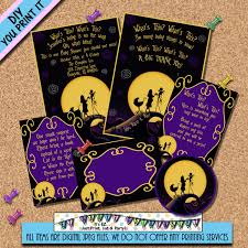 Nightmare Before Christmas Baby Room Decor by Nightmare Before Christmas Baby Shower Invitation Package