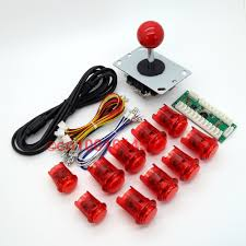 Build Arcade Cabinet With Pc by New Reyann Led Arcade Game Cabinet Diy Kit Usb Encoder Board Red