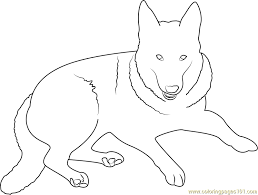 German Shepherd Dog Coloring Page