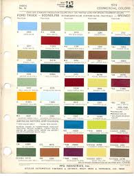 100 Ford Truck Colors Paint Chips 1973 Fleet Commercial Econoline Club Chateau