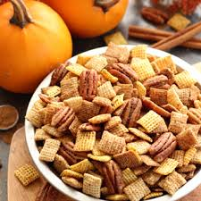 Pumpkin Spice Chex Mix With Candy Corn by Occasions Chex Cereal