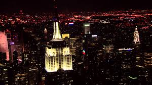 The Empire State Building Lights Up During the 37th Annual Macy s