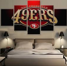 5 Pcs NFL Football San Francisco Canvas Print Painting Wall Art Home Decor