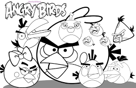 Elegant Angry Birds Coloring Page 55 In Print With