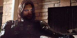 The Winter Soldier He Has A Metal Arm With Red Star Cold Dead Eyes Wears Black Mask And Never Speaks Didnt Utter Word As