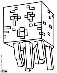Ghast From Minecraft A Creature Resembling Jellyfish Ghost Coloring Page