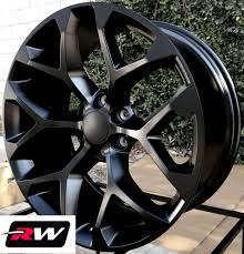 100 Oem Chevy Truck Wheels 22 Inch 22 X9 For Silverado 1500 Satin Black Rims