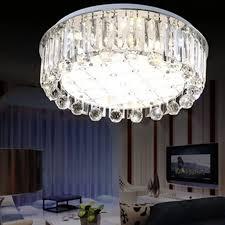 moderne runde luxus k9 kristall le stufenlose dimmen mit fernbedienung led wohnzimmer esszimmer deckenleuchte beleuchtung