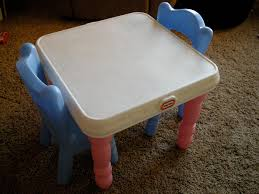 100 Playskool Plastic Table And Chairs Little Tikes Pink ARTSNOLA Home Decor