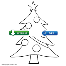 Christmas Tree Coloring Page Print Out by Christmas Tree Coloring Pages For Toddlers
