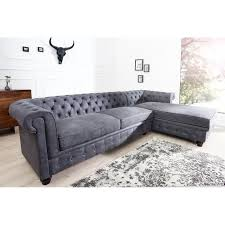 canap chesterfield angle casa padrino chesterfield canapé d angle en gris antique meubles