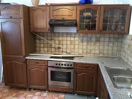 einbauküche eiche rustikal mit e geräten in l form gebraucht