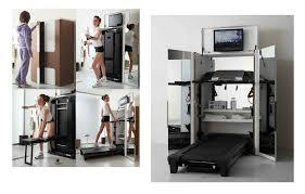 hiding exercise machine einrichtung haus wohnzimmer