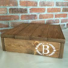 Wedding Cake Platforms Rustic Stand And Keepsake Box