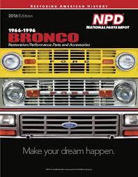 66 96 Ford Bronco Restoration Parts Catalog