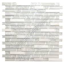 glass tile and tumbled marble linear mosaic 5 8 x linear strips
