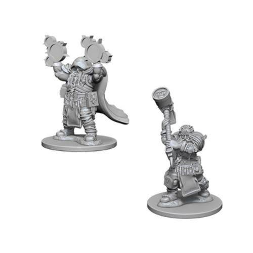 Wizkids Deep Cuts Dungeons and Dragons Nolzur's Marvelous Unpainted Minis - Dwarf Male Cleric