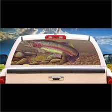 100 Custom Window Decals For Trucks Trout Fish Mural Tint Decal