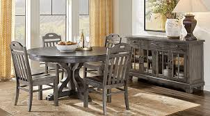 Westbrook Gray 5 Pc Round Dining Room