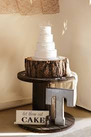 Country Wedding Cake Display Fab Rustic Ideas With Tree Stump Page Hi Miss